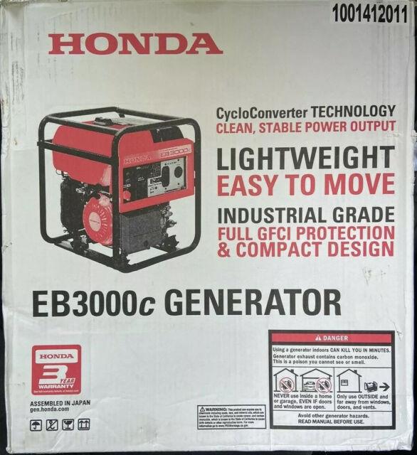 Honda EB3000C 3000W Portable Gas Powered INDUSTRIAL Generator Free Honda Cover