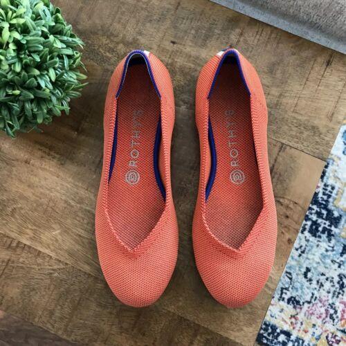 Women's Rothys Persimmon Marina Heel Stripe Flats