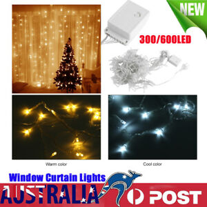 AU-New-Window-Curtain-String-Fairy-Lights-Wedding-Xmas-Party-Festival-300-600LED