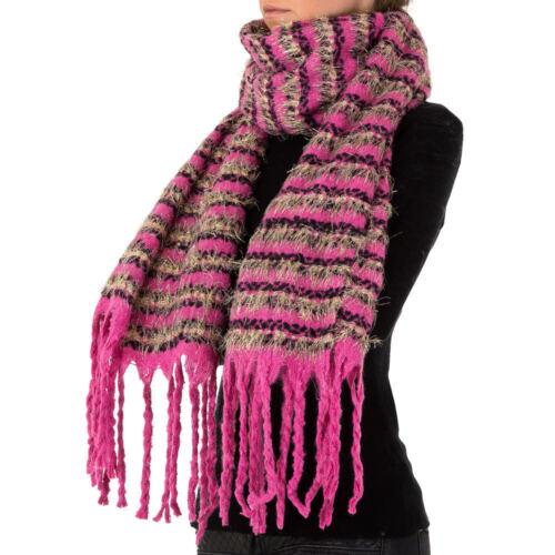 GROßER WOLLMIX XXL DAMEN SCHAL ONE SIZE Pink 5897