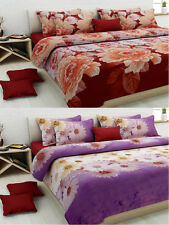 Homefab India Combo of 2 3D Double Bed Sheet (Combo815)