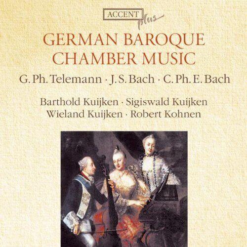 Telemann, J. S. & C. Ph. E.Bach : German Baroque Chamber Music / S.B.Kuijken CD