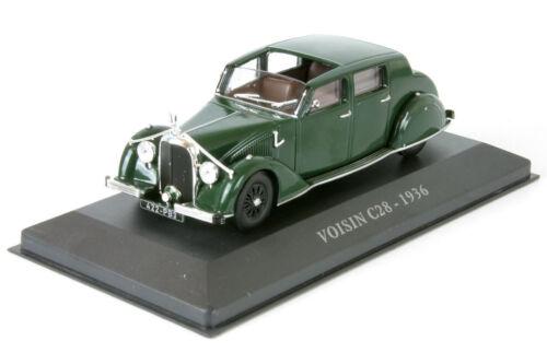Hood c28 année-modèle 1936 Vert Green 1:43 Altaya IXO AL 1936-vo-01 NEUF