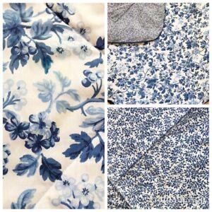 Vintage Laura Ashley Bedding Comforter Queen Blue White