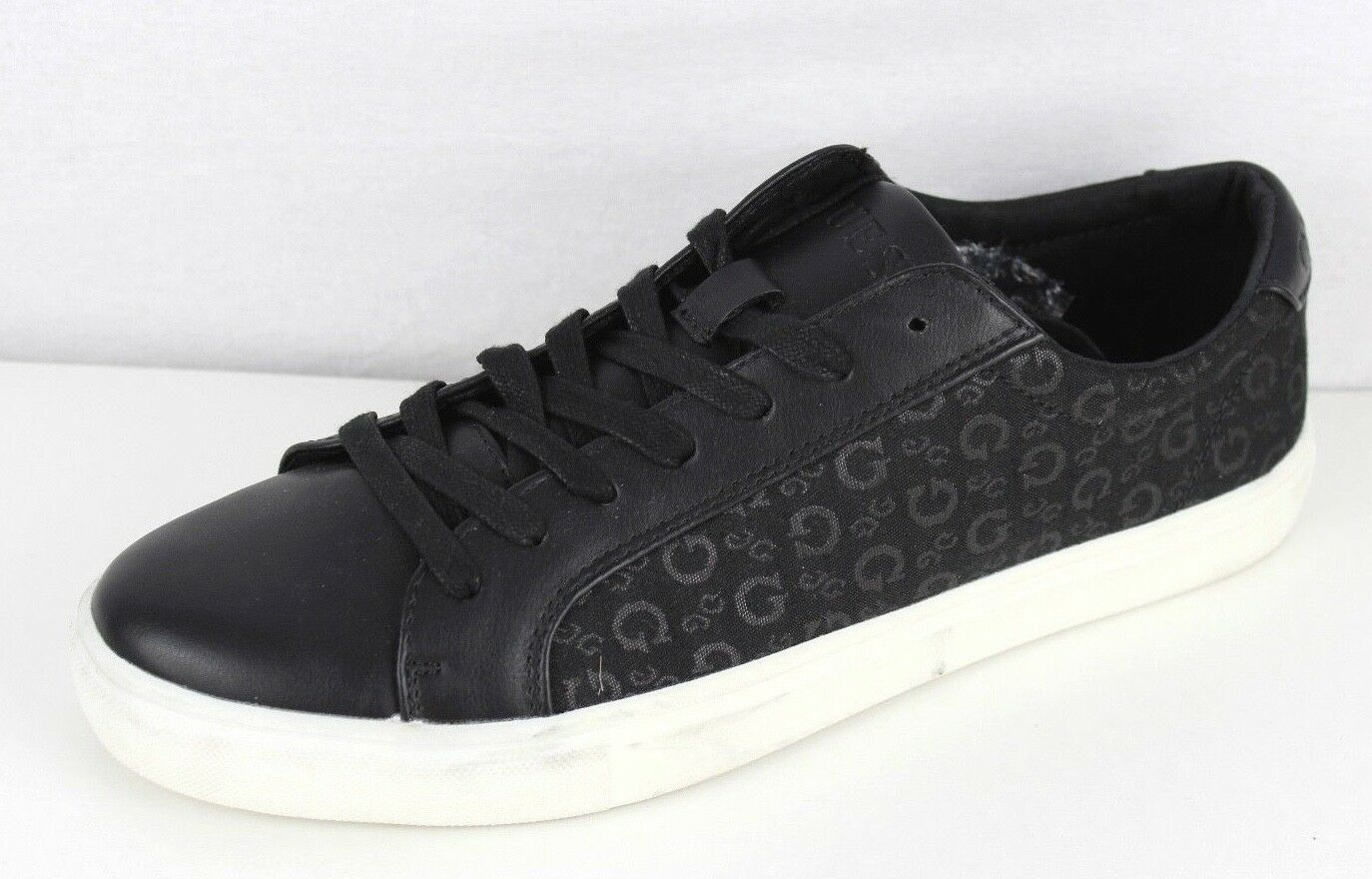 Guess style gm terca men's shoes sneakers black leather signature size 10 M