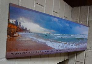 MEDITERRANEAN-SEA-ISRAEL-Scripture-Verse-Beach-Ocean-Shore-Home-Decor-Sign-NEW
