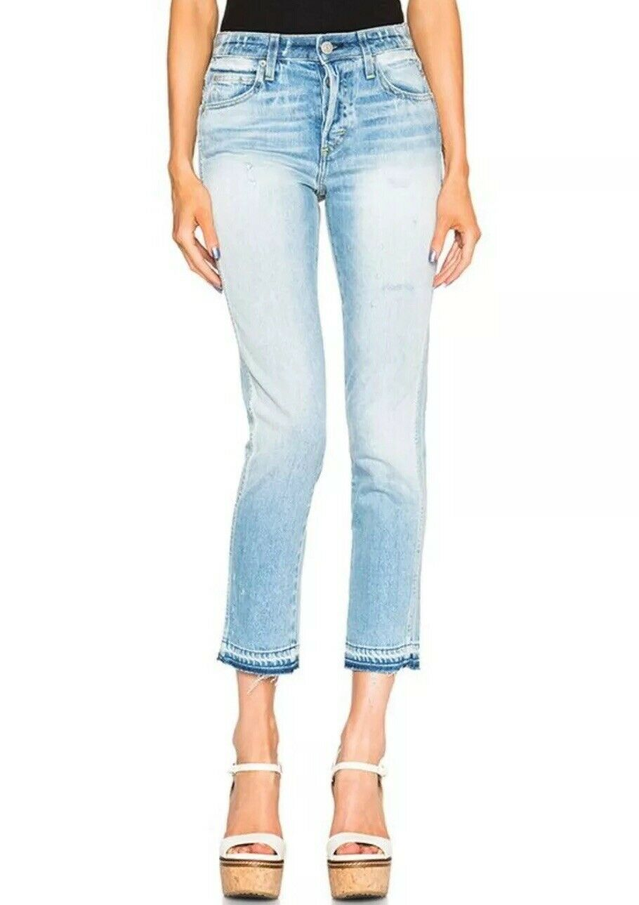 NWT  AMO Babe Slim Fit High Rise Jeans In Forget Me Not Size 27