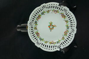 """1930 Reticulated Bowl y7-w6-a9 Plate Germany 7"""" Brave Great Old Ca"""