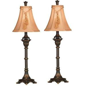 Sensational Details About Buffet Lamps 2 Pack Reading Lamps For Bedside Table Desk Nightstand Traditional Home Interior And Landscaping Elinuenasavecom