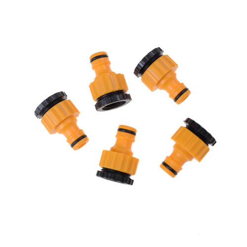 "5X ABS Garden Hose Water Pipe Connector Tube Fitting Tap Adapter 1//2/"" /& 3//4/"" SK"