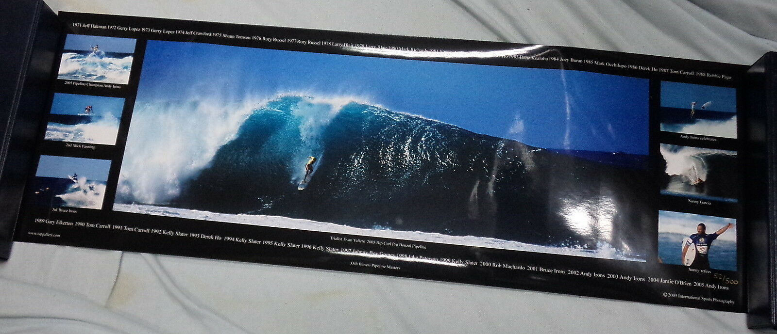 BB5.  LARGE PHOTO OF 2005  RIP CURL SURFING PRO BONZAI PIPELINE  of 500