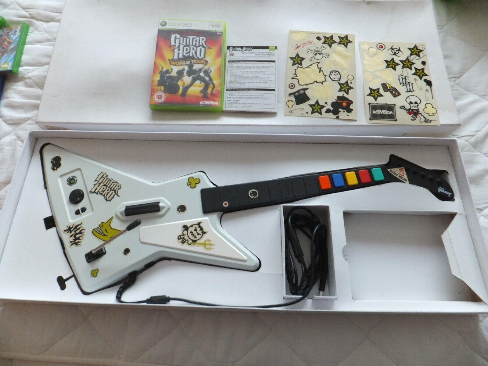 Guitar Hero Wired Guitar Controller Xbox 360 Xplorer White Gibson Guitar Boxed