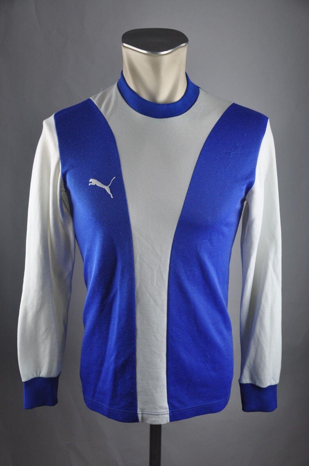 Puma vintage Shirt Rohling Trikot 80er Shirt  Gr. 3   S jersey 80s blue VA6
