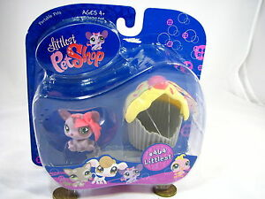 BNIB-LITTLEST-PET-SHOP-MOUSE-WITH-CUPCAKE-AND-BOW-464