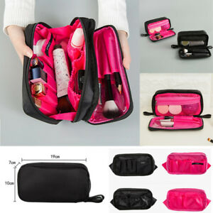 Salons Double Zipper Cosmetic Makeup Brush Bag Case Organizer  Nylon Storage Kit by Ebay Seller