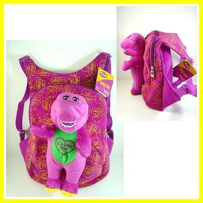 LAST ONE NEW Barney The Dinosaur I LOVE YOU Heart Soft Plush Doll Backpack Bag