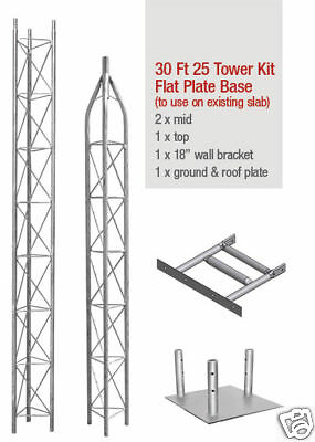 25G AMERICAN TOWER, ROHN TOWER STYLE-AME25**NEW** W/ BASE-30 FOOT. Buy it now for 668.00