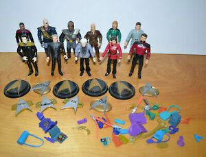 Vintage-STAR-TREK-Action-Figure-Lot-of-11-Playmates-Captain-Picard-Data-5-034-1990s