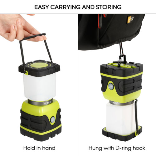 Dimmable 4 Lighting  Modes TORCHSTAR Portable USB Recharged LED Camping Lantern