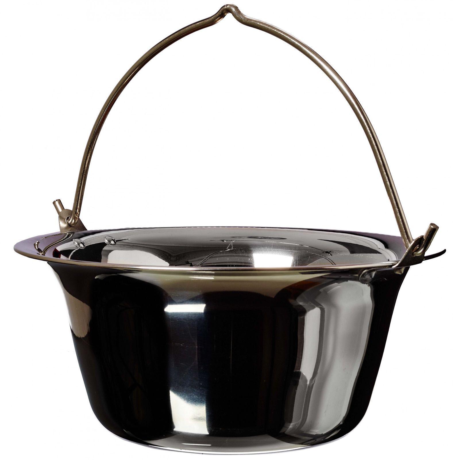 Outdoor-Chaudières Goulasch potage Chaudière, 10 L, acier inoxydable PREMIUM