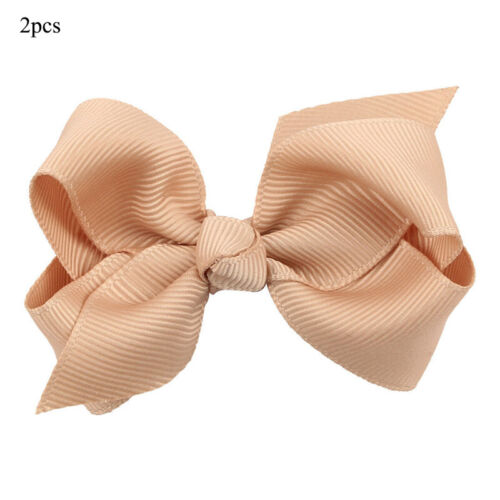 2PCS Colorful Barrettes for Children Baby Girls Ribbon Hair Clip Bows Hairgrip