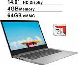 New Lenovo IdeaPad 14 inch AMD A6-9220e/4GB/64GB Laptop Free Office 365 1 Year ($69)
