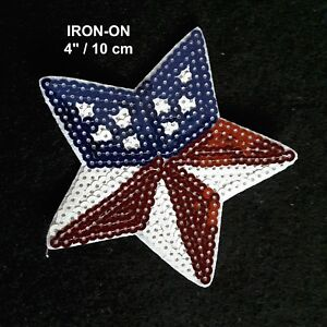 USA-Flag-Star-Sequins-Embroidered-Iron-on-Emblem-Patriotic-Badge-Patch-American