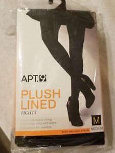 a7eb326b4 NWT Women s Apt 9 Black Tights Plush Lined Size M 5 5  - 5 11  135 ...