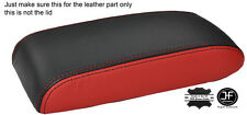 BLACK & RED LEATHER ARMREST LID COVER FITS TOYOTA CELICA GT4 1990-1993