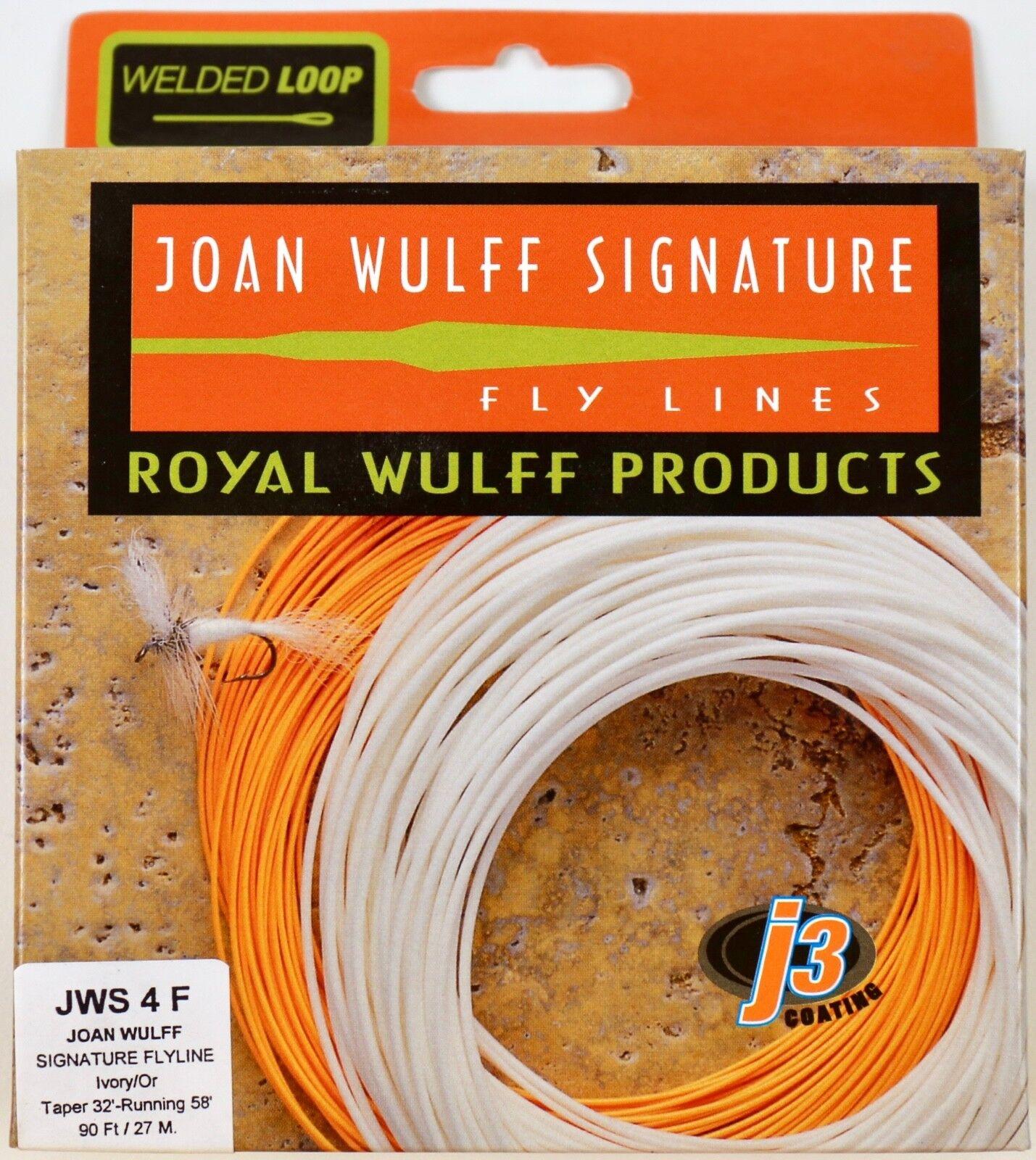 Royal Wulff Joan Wulff firma 4 WT Flotante Línea Mosca Envío Gratuito JWS4F