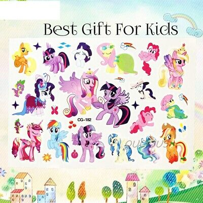 Rare My Little Pony Cartoon Kids Boys Girls Temporary Tattoos Stickers Body Art Ebay