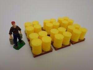 Custom 1:64 Scale Dark Brown Pallets X3 Hot Wheels Matchbox