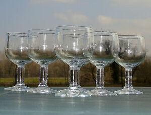Service-de-6-verres-de-bistrot-en-verre-souffle-XIXe-s-Haut-12-5-cm