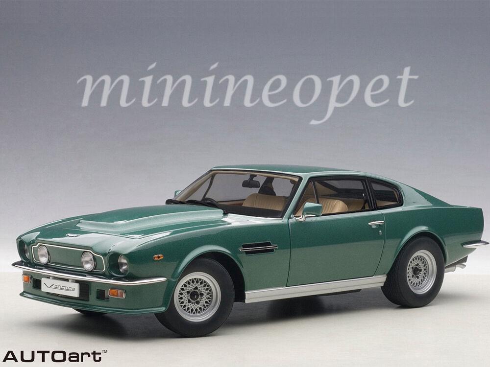 AUTOART 70224 1985 85 Aston Martin V8 Vantage 1 18 Voiture Modèle vert forêt