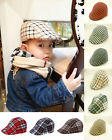 SALE!Classic Newsboy Toddler Boys Flax Cap Ivy Hat Check Beret Sun Hat Plaid Cap