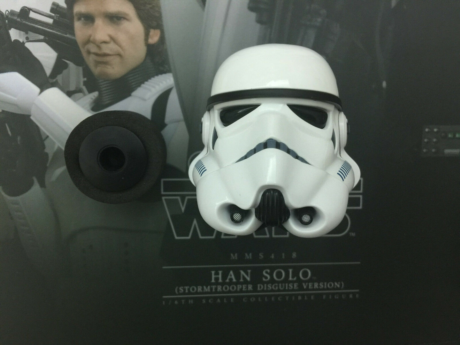 Hot Toys Star Wars Han Solo MMS418 Stormtrooper Disguise Version-Casque & Peg