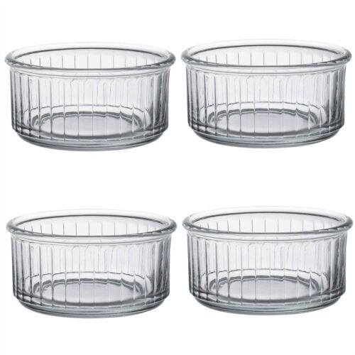 Duralex Oven Chef Glass Ramekins for Crème Brulee Desserts 10cm x4