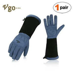 1Pcs Rose Pruning ThornProof Long Cuff Garden Work Gloves W// Extra Long Cowhide