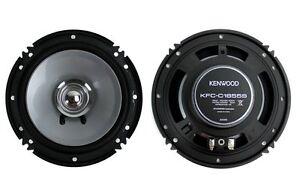 "2) Kenwood KFC-C1655S 6.5"" 300 Watt Car Audio Dual Cone Speakers Stereo"