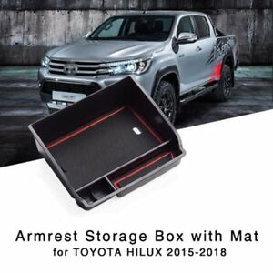 Armrest-Storage-Box-for-Toyota-Hilux-2015-2016-2017-2018-Central-Console-Tray