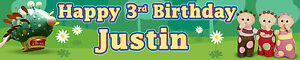Personalizzata compleanno in THE NIGHT GARDEN striscioni Pacco di due OPT 2  </span>
