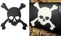 White Skull & Crossbones Grip Tape For Yeti, Rtic, Stainless Insulated Tumbler