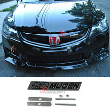3D Metal Black Mugen Front Grill Racing Emblem Badge Decal Sticker For Honda