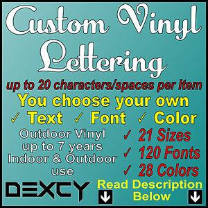 CUSTOM VINYL LETTERING For Car Window Boat Sign Wall Outdoor Vinyl - Custom vinyl decal stickers for boats