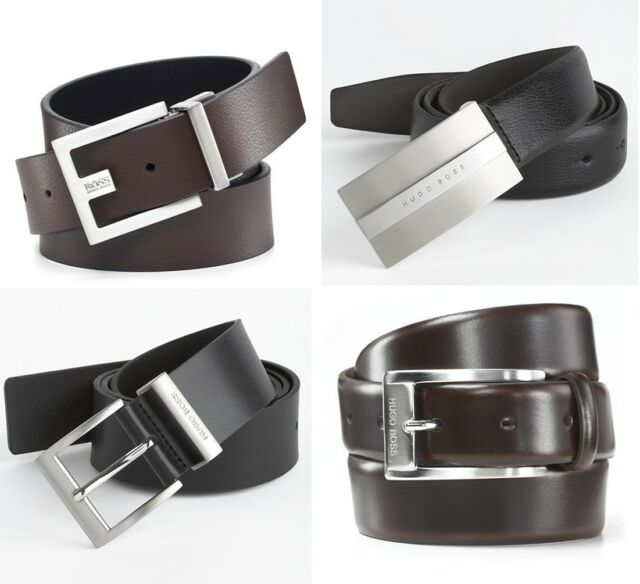 acce2bdc8f2 HUGO BOSS Men's Leather Belt Assorted Styles-100% Cow Skin, Handmade,  Authentic