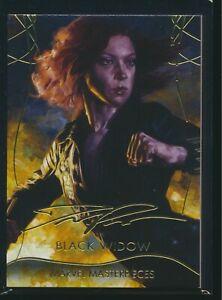 2020 Upper Deck Marvel Masterpieces Gold Foil Signature Lvl 1 #10 Black Widow