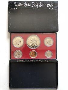 USA-1975-Proof-Set-San-Francisco-Original-Box-PP-polierte-Platte-1c-1