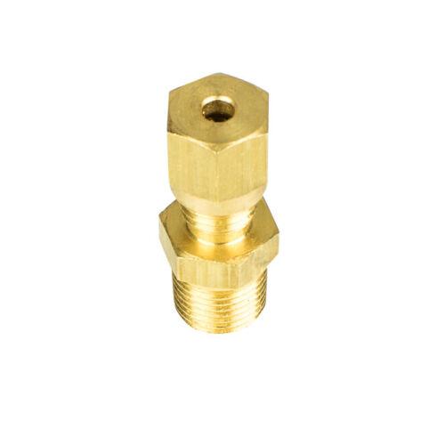 Brass Compression Fittings NPT Thread Plumbing Coupler Sensor Fittings