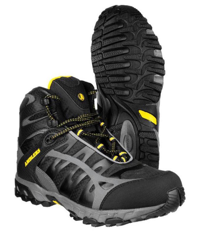 Amblers FS36 Safety S3 Lightweight Black Steel Toe Cap Mens Work Boots UK7-12