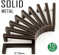 *5 Pack* Cosmas Cabinet Hardware Oil Rubbed Bronze Euro Bar Pull  #305-96ORB